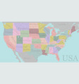 high detailed accurate usa map american road vector image vector image