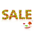 inscription sale of autumn leaves vector image