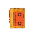 isolated retro cassette player icon vector image