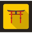 Japan gate icon in flat style vector image vector image