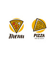 logo slice pizza food symbol or label vector image
