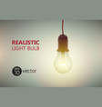 luminant light bulb background vector image vector image