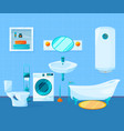 modern clean interior of bathroom pictures vector image vector image