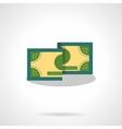 Money bill flat color icon vector image vector image