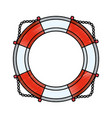 nautical life ring vector image vector image