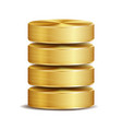 network database disc icon realistic vector image