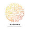 oktoberfest circle concept vector image vector image