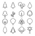 outlines tree simple icons vector image
