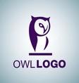 OWL LOGO 9 vector image vector image