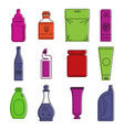 packing icon set color outline style vector image