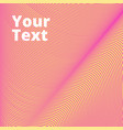 pink background of lines and waves pink vector image