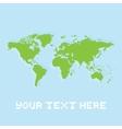Pixel art planet earth card vector image vector image