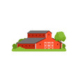 red barn agricultural farm building countryside vector image