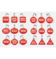 red sales tags wobblers with text collection tag vector image vector image