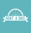 rent a bike in retro style vector image vector image