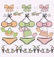 Retro bikinis vector image