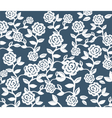 Roses Vintage seamless pattern on pink vector image vector image