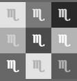 scorpio sign grayscale vector image vector image