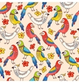 Seamless parrots vector image vector image