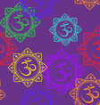 Seamless pattern of Om signs vector image vector image