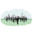 silhouettes of businesspeople vector image vector image