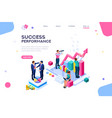 success concept isometric clip art vector image