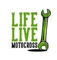 t-shirt design slogan typography life live vector image vector image