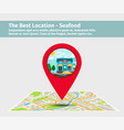 the best location seafood vector image vector image