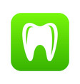 tooth in mouth icon simple style vector image vector image