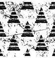 Traffic cone pattern grunge monochrome vector image