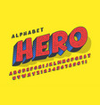 trendy 3d comical design colorful alphabet vector image vector image