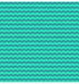 Turquoise and teal waves seamless pattern vector image