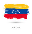 venezuela colorful brush strokes painted flag vector image vector image