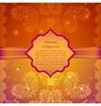 Vintage beige flowers ornament in Indian style vector image