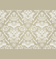 wallpaper with white damask pattern vector image vector image