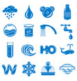 water icons set simple style vector image
