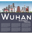 Wuhan Skyline with Gray Buildings vector image vector image