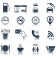 16 gas station icons Fuel icons vector image vector image