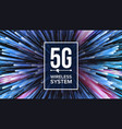 5g wi-fi standard background five 5th vector image vector image