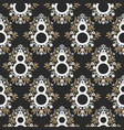 8 march floral black and gold seamless vector image vector image