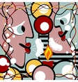 Abstract heads and candle vector image vector image