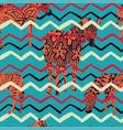 abstract zebra zigzag background vector image