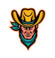 american cowboy sports mascot vector image vector image