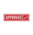 approved rubber stamp isolated texture vector image vector image