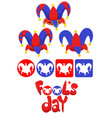 april fools day elements set vector image vector image
