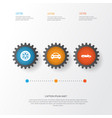 auto icons set collection of wheel auto vector image