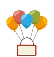 balloons air party isolated icon vector image vector image