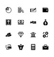 banking - flat icons vector image