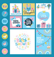 bashower or arrival big set - tags banners vector image vector image