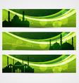 beautiful ramadan headers vector image vector image